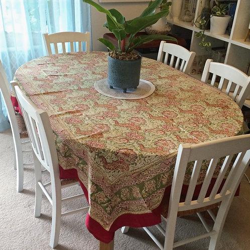 6 seat Rectangle Malini Table Cloth