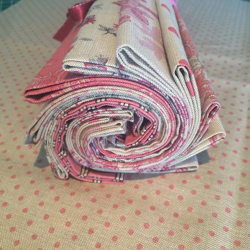 All Chambray Red Fat Quarter Bundle