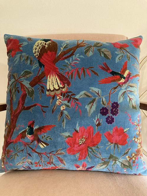 Blue Velvet Cushion Cover