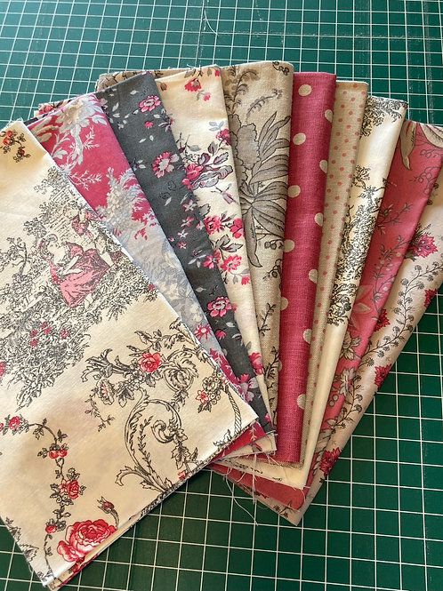 Red  and Grey Fat Quarter Bundle