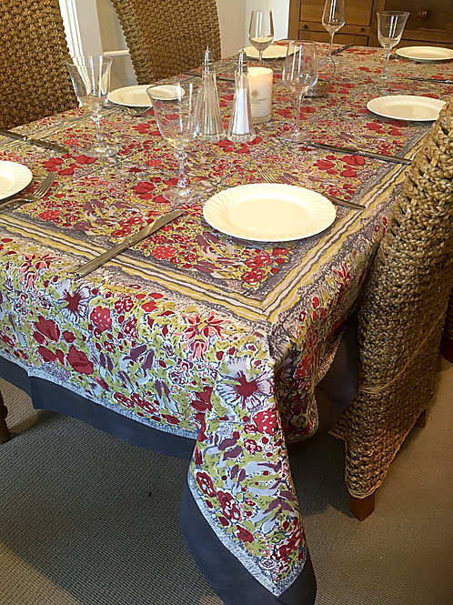 6 seat Rectangle Jardin Table Cloth