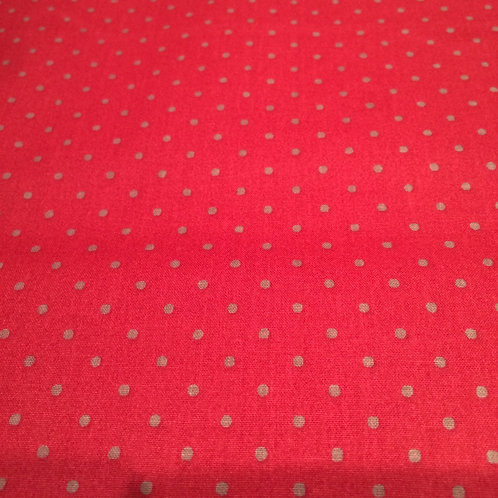 Dots Red Grey