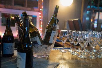 Wine available by the bottle for table service and for parties.