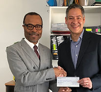 Upstandards initiative cheque presentati