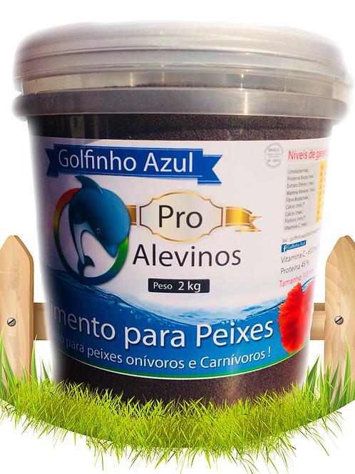 Alimento Pro Alevino de peixes 45% - Balde 2kg