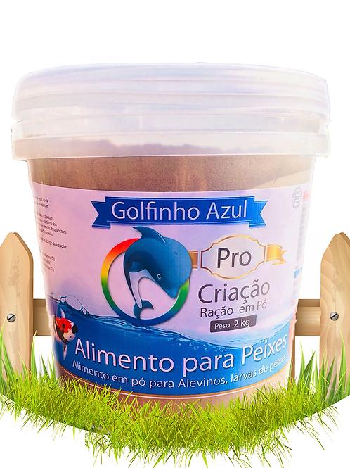 Alimento Pro Larvas / Alevinos em Pó 55 % de proteína - Balde 2 kg