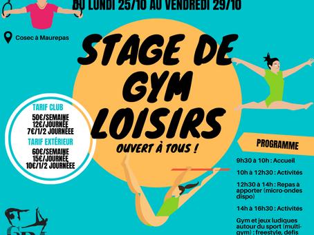 Stage Loisirs Toussaint 2021