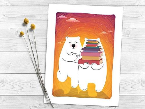 Четящите мечоци - картина