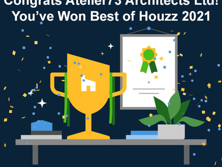 2021 Best of Houzz Award for Design!