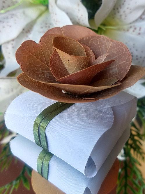 (20 unidades) embalagem para bem casado com flor natural