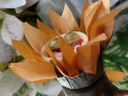 (50 Unidades) forminhas flor do abacaxi em tecido