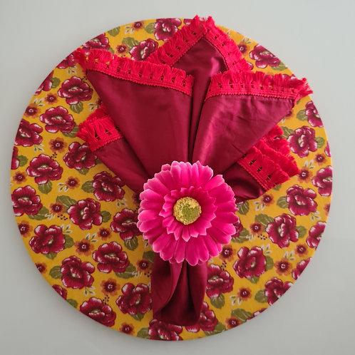 Mesa posta floral