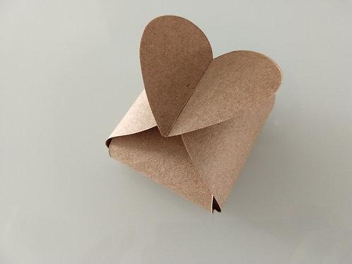 (50 Unidades) Embalagens para em casados em papel kraft