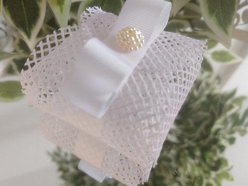 (20 unidades) Embalagem para bem casados em talagarça