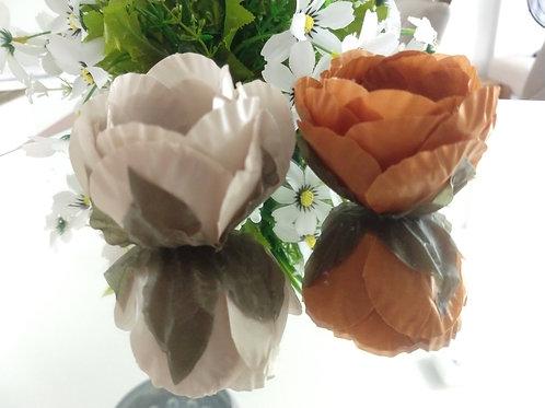 (50 Unidades) Forminhas Tulipa de tecido