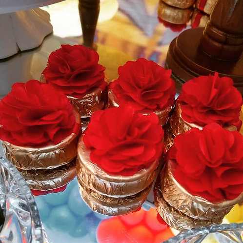 (50 unidades) topos para bem casados, alfajor ou brownie.