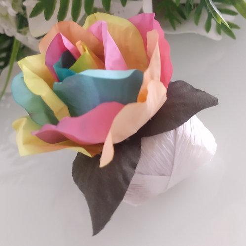(30 unidades) Topos para bem casados Tie Dye de papel