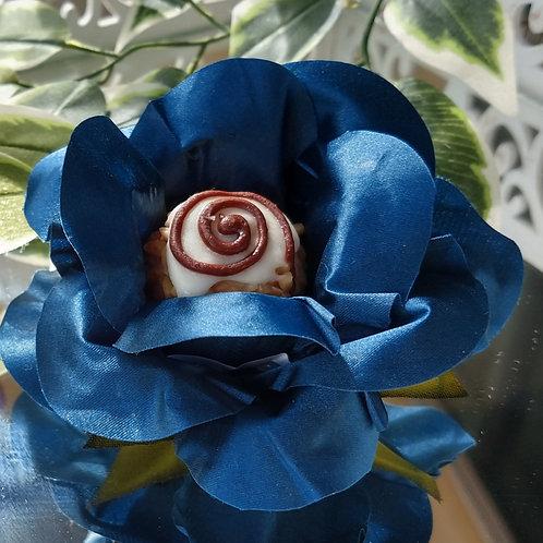 (50 unidades) Forminhas flor aberta em tecido