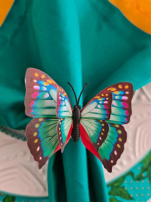 kit 6 unidades porta guardanapo borboleta