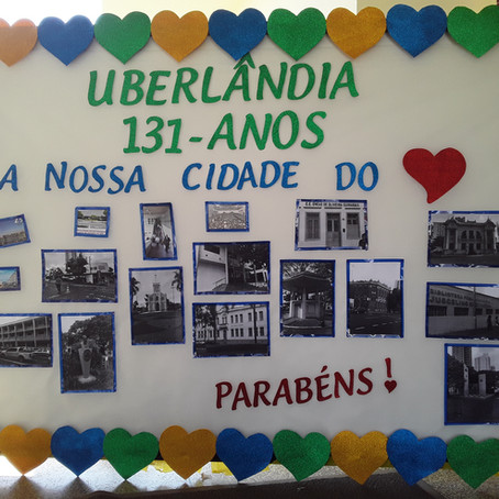 Aniversário de Uberlândia no Centro Educacional José de Souza Prado