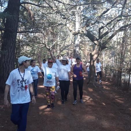 Pacientes dos grupos NASF fazem atividades no Pq do Sabiá