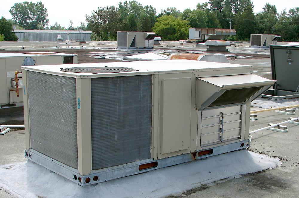 Крышная установка Nordyne. Воздушное отопление