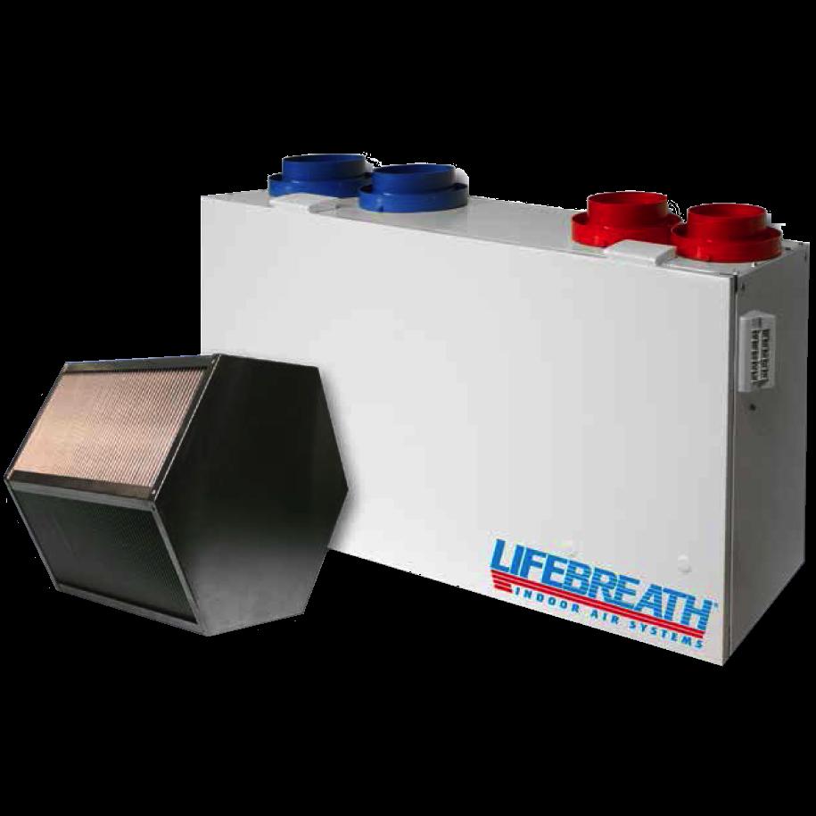 Рекуператор Lifebreath. Воздушное отопление