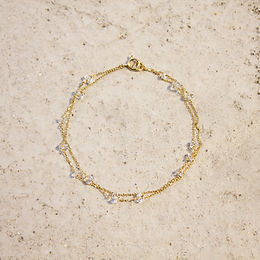 LUMIEF 2Line Loop Bracelet K10YG