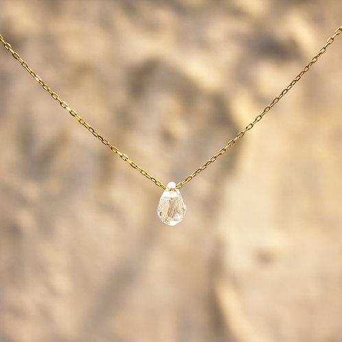 LUMIEF 4.2mm Drop Necklace K10YG