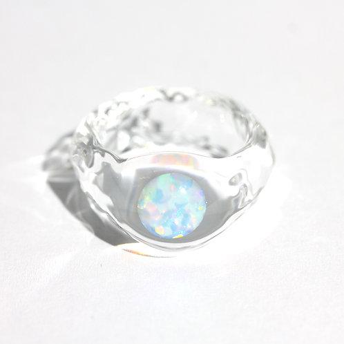 SENTE OPAL Ring #15 White Opal 0.50ct [No.0026]