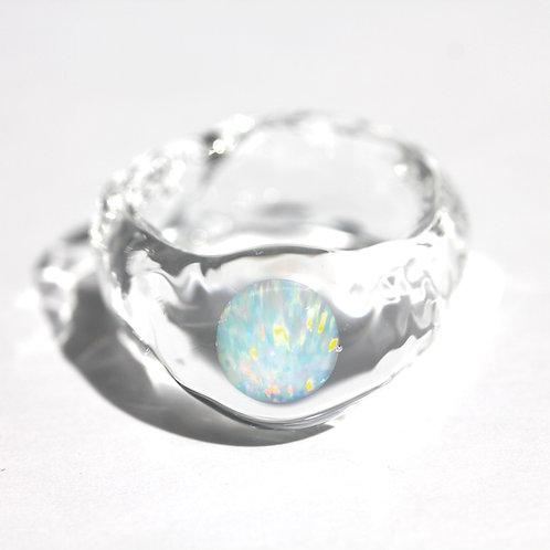 SENTE OPAL Ring #15 White Opal 0.50ct [No.0003]