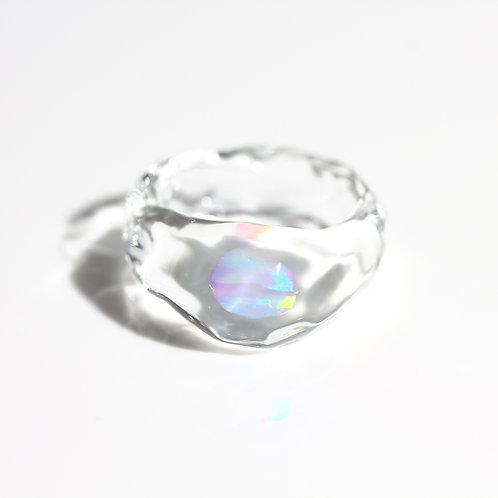 LUMIEF OPAL Rough Ring #6 Mint Opal 0.24ct [No.0038]