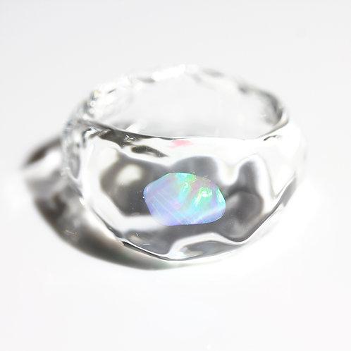 LUMIEF OPAL Rough Ring #12 Mint Opal 0.33ct [No.0033]