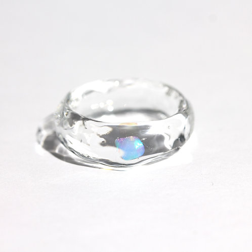 LUMIEF OPAL Straight Ring #11 Mint Opal [No.0028]