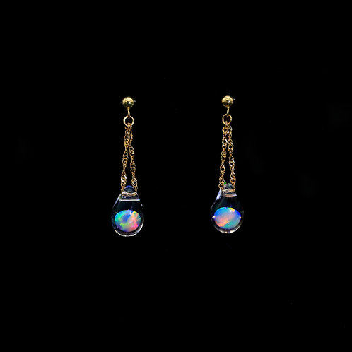SENTE OPAL 6mm Drop Post Pierce K18