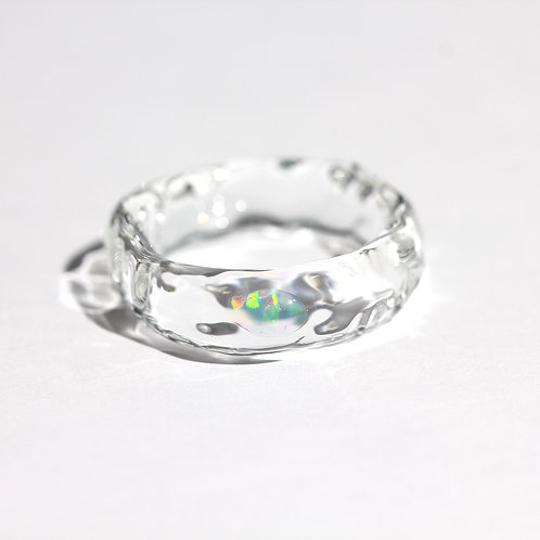 LUMIEF OPAL Straight Ring #18 Water Opal [No.0030]