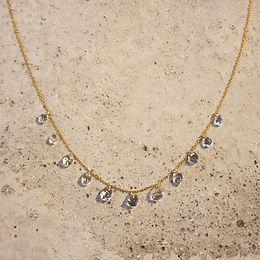 LUMIEF 11 Drop Necklace K10YG