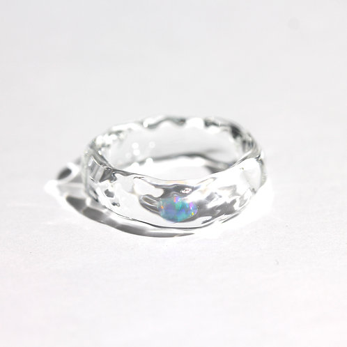 LUMIEF OPAL Straight Ring #10 Water Opal [No.0019]