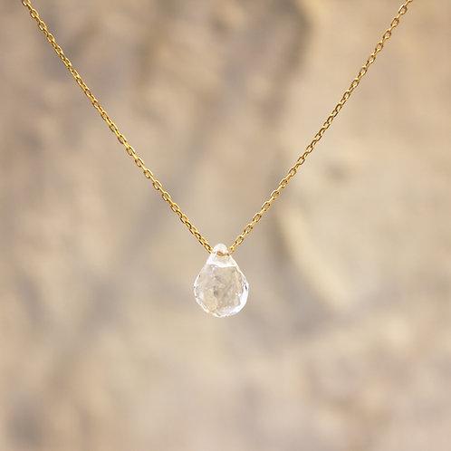 LUMIEF 6mm Drop Necklace K10YG