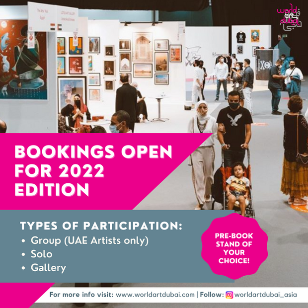 WORLD ART DUBAI 2022 Pre-book your stand of your choice.