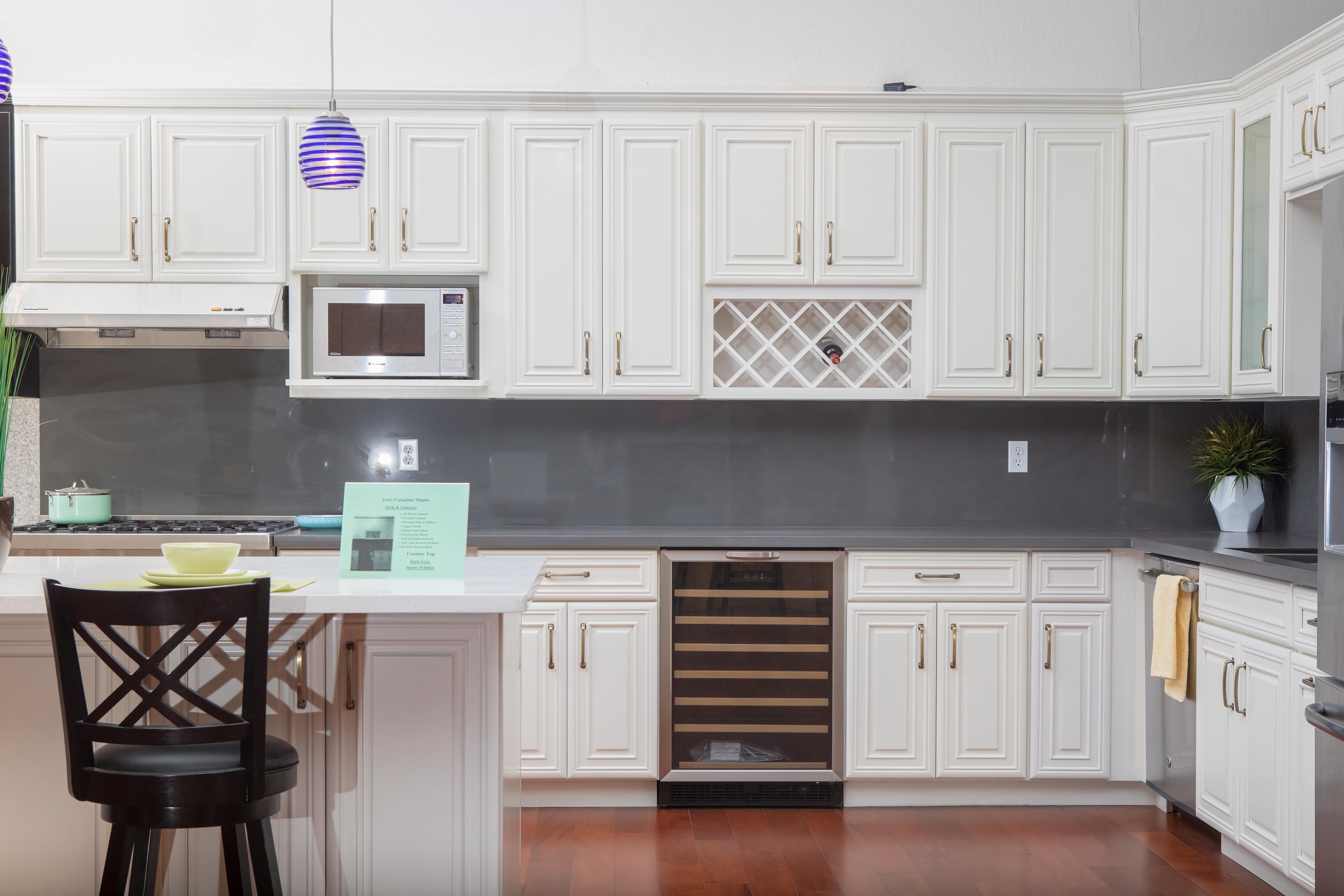 Ivory Maple Shaker Hayward San Jose Kz Kitchen Cabinets Stone