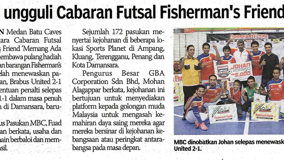 MBC Ungguli Cabaran Futsal Fisherman's Friend