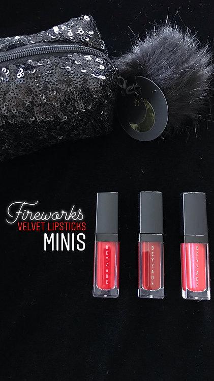 Fireworks | Velvet Lipstick Mini Set