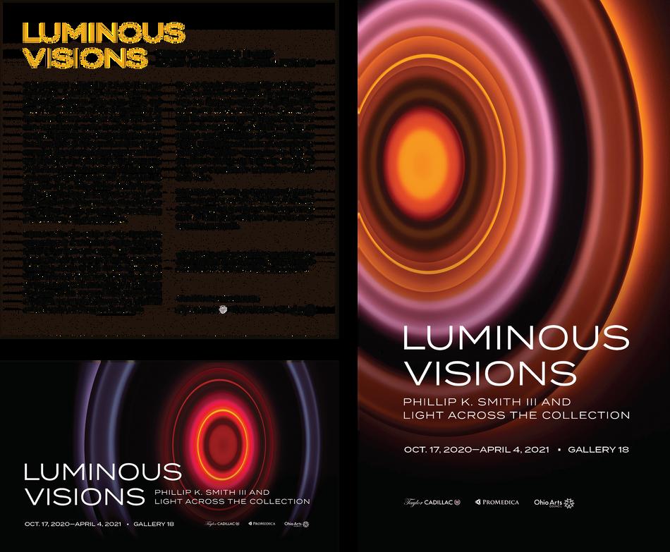 Luminous Visions Exhibition Identity