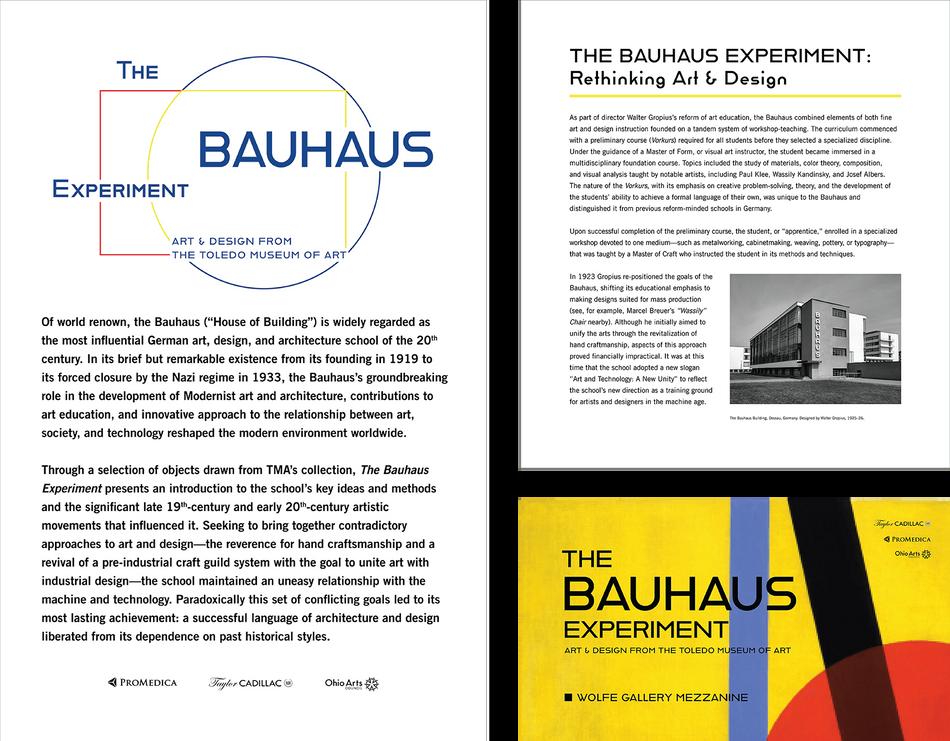 The Bauhaus Experiment Exhibition Identity