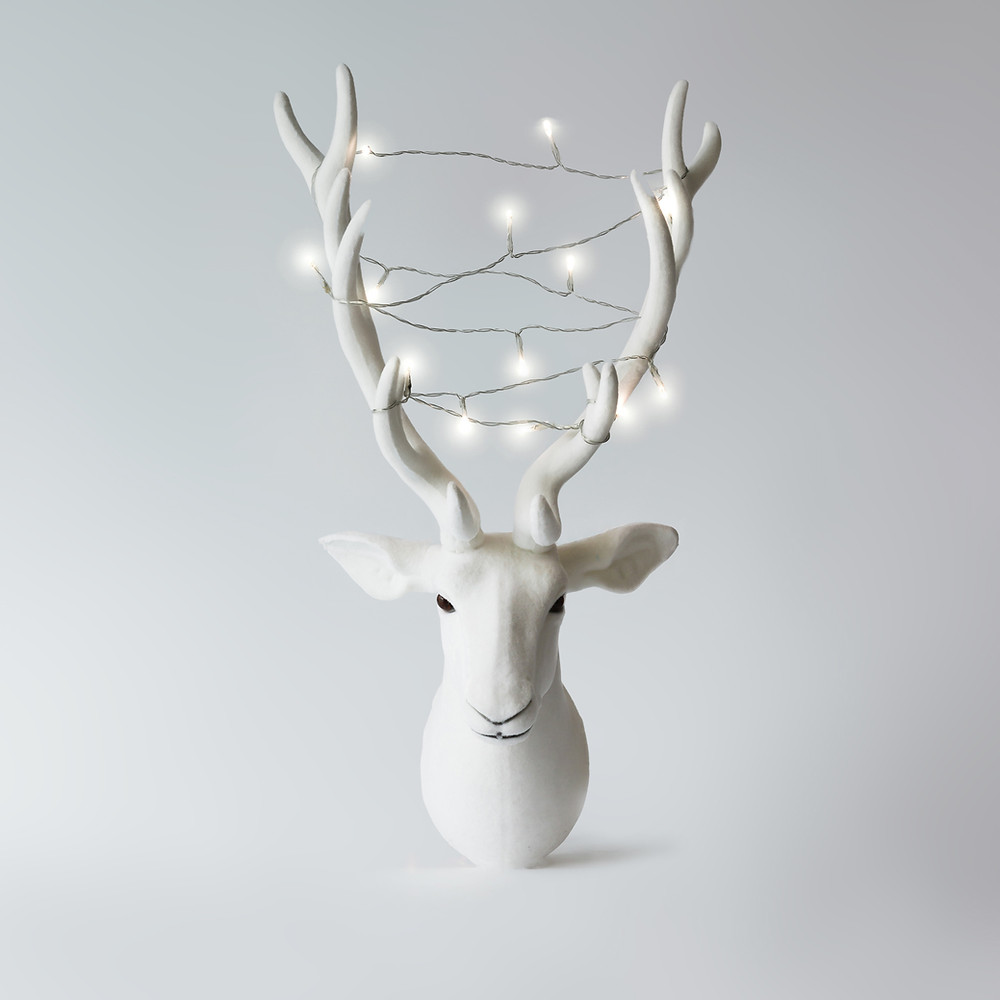 white antler lights