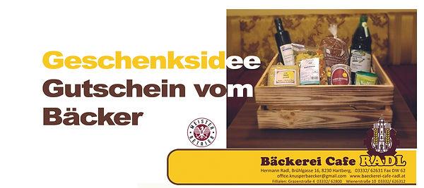 Gutschein von der Bäckerei Radl schenken