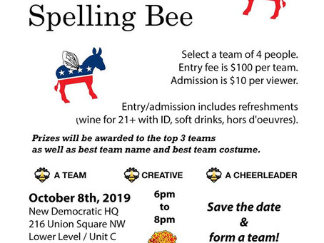 Spelling Bee Oct  8th