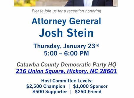 CCDP to host Josh Stein