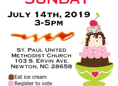 Ice Cream Sunday on July 14